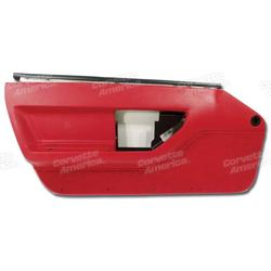 Corvette Door Panel. Red LH: 1986-1989