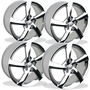 Corvette Wheels - 2014 C7 Corvette Stingray GM 5-Spoke (Set) : Chrome
