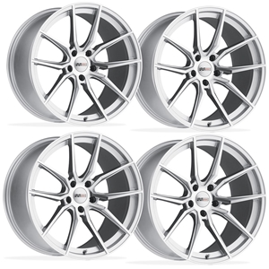 Corvette Wheels (Set) - Cray Spider -  Silver w/ Mirror Cut Face