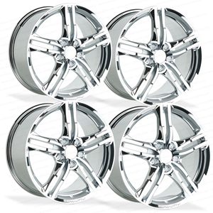 Corvette GM Wheel Exchange (Set) - Chrome : 2016 C7 Stingray 18x8.5 19x10, 2016, 2017
