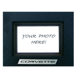 1997-2004 C5 Corvette Photo/Picture Frame w/Brushed Stainless Steel Emblem