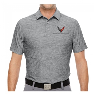 Corvette Next Generation Under Armour Polo : Gray Heather
