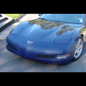 Corvette Bra - SpeedLingerie Color Matched with NO License Plate Window : 1997-2004 C5 & Z06