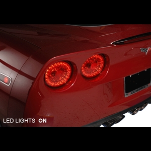 Corvette LED Taillights/Red : 2005-2013 C6,Z06,ZR1,Grand Sport
